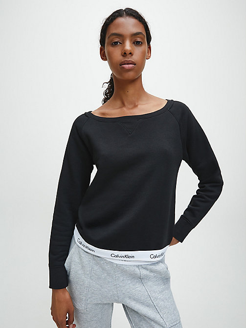 CALVINKLEIN Top - Modern Cotton - BLACK - CALVIN KLEIN LOUNGE TOPS - main image
