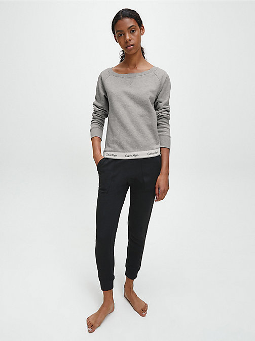 CALVIN KLEIN Top - Modern Cotton - GREY HEATHER - CALVIN KLEIN LOUNGE TOPS - detail image 1