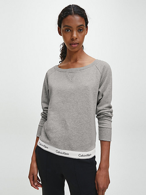 CALVIN KLEIN Top - Modern Cotton - GREY HEATHER - CALVIN KLEIN LOUNGE TOPS - main image
