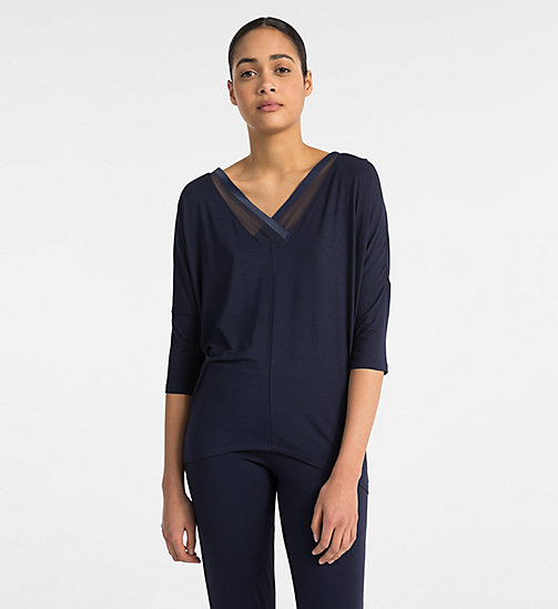 CALVIN KLEIN V-Neck Top - Sculpted - SHORELINE - CALVIN KLEIN LOUNGE TOPS - main image
