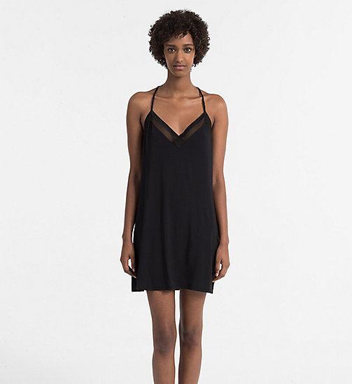 CALVIN KLEIN Chemise - Sculpted - BLACK - CALVIN KLEIN NIGHTDRESSES - main image