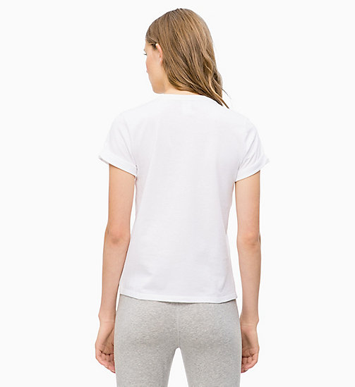 CALVINKLEIN Logo T-Shirt - WHITE W NYMPHS THIGH - CALVIN KLEIN NEW FOR WOMEN - detail image 1