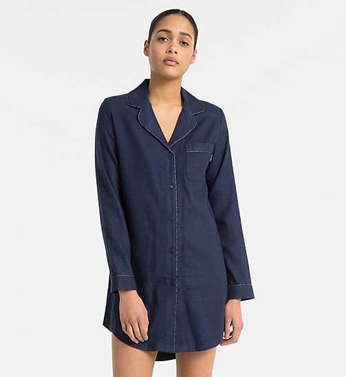 CALVINKLEIN Nightshirt - SHORELINE HEATHER - CALVIN KLEIN ALL GIFTS - main image