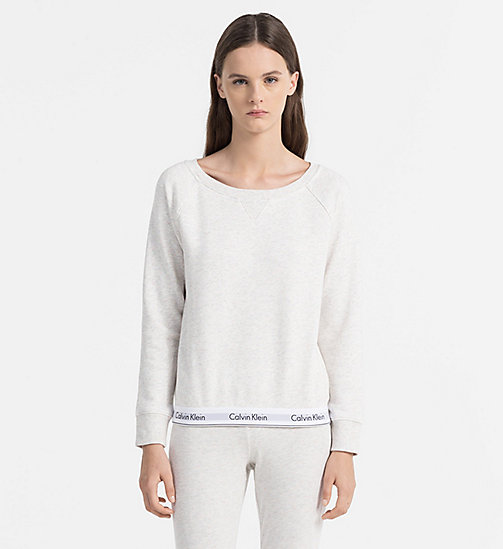 CALVINKLEIN Sweatshirt - Modern Cotton - SNOW HEATHER_NEON NEPS - CALVIN KLEIN UNDERWEAR - main image