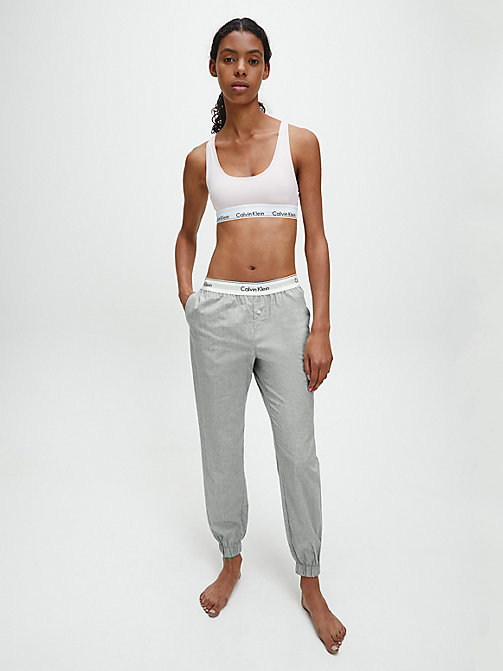 CALVINKLEIN Jogging Pants - Modern Cotton - GREY HEATHER - CALVIN KLEIN LOUNGE PANTS - detail image 1