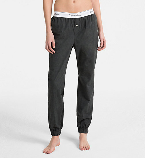 CALVIN KLEIN Sweatpants - Modern Cotton - CHARCOAL HEATHER - CALVIN KLEIN LOUNGE PANTS - main image