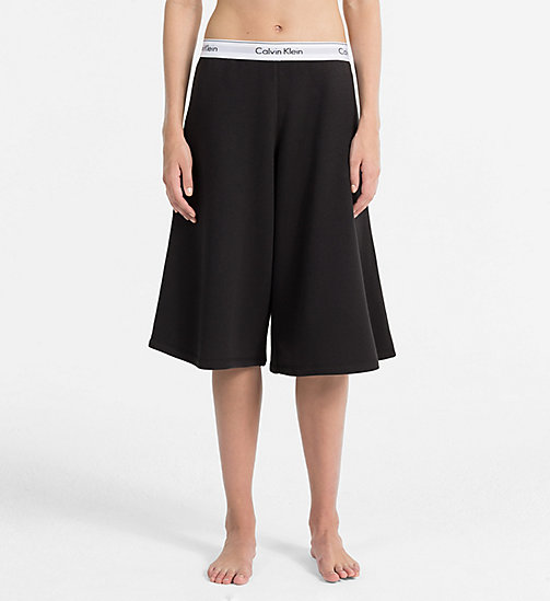 CALVINKLEIN Capri Sweatpants - Modern Cotton - BLACK - CALVIN KLEIN PYJAMA BOTTOMS - main image