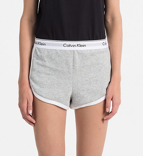 CALVINKLEIN PJ Shorts - Modern Cotton - GREY HEATHER - CALVIN KLEIN PYJAMA BOTTOMS - main image