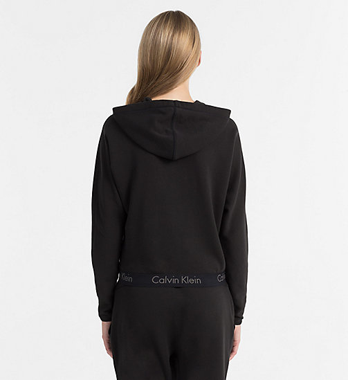 CALVINKLEIN Zip Hoodie - Body - BLACK - CALVIN KLEIN BODY FOR HER - detail image 1