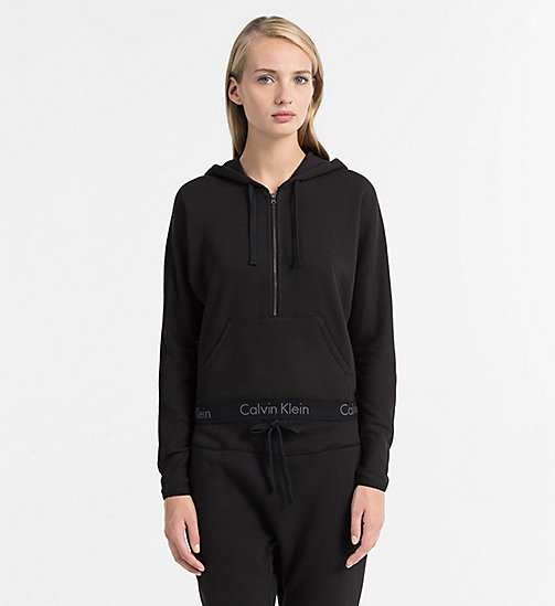 CALVINKLEIN Zip Hoodie - Body - BLACK - CALVIN KLEIN BODY FOR HER - main image
