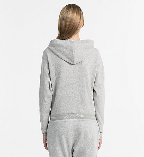 CALVINKLEIN Zip Hoodie - Body - GREY HEATHER - CALVIN KLEIN LOUNGE TOPS - detail image 1