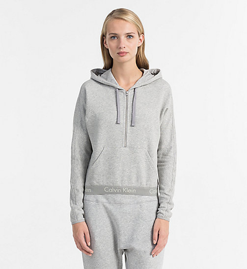 CALVINKLEIN Zip Hoodie - Body - GREY HEATHER - CALVIN KLEIN LOUNGE TOPS - main image