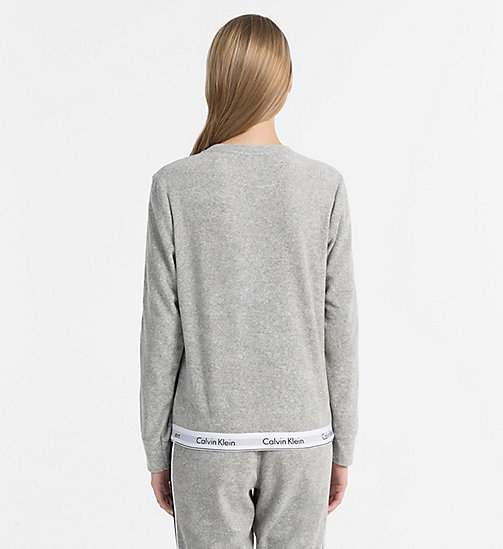 CALVINKLEIN Свитшот - Modern Cotton - GREY HEATHER - CALVIN KLEIN LOGO SHOP - подробное изображение 1