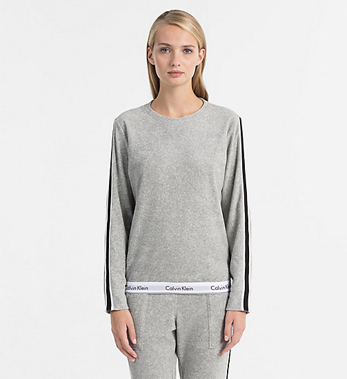 CALVINKLEIN Sweatshirt - Modern Cotton - GREY HEATHER - CALVIN KLEIN LOGO SHOP - main image