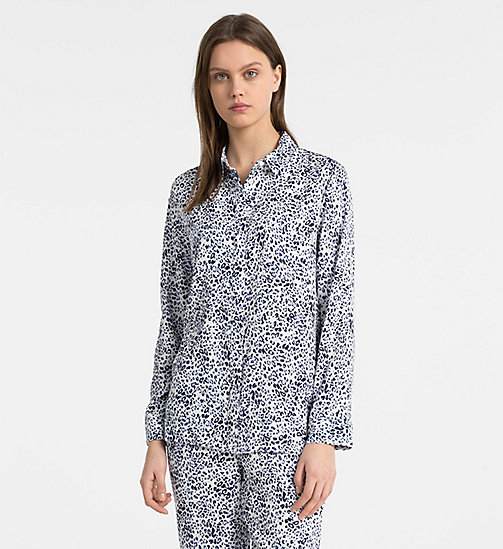 CALVIN KLEIN PJ Top - EFFORTLESS ANIMAL - CALVIN KLEIN LOUNGE TOPS - main image