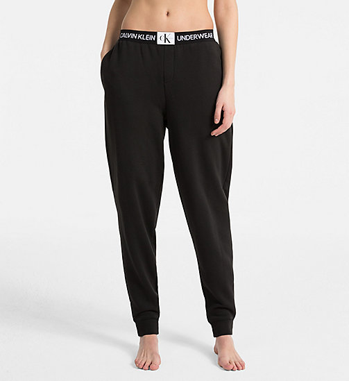 CALVINKLEIN Joggers - Monogram - BLACK - CALVIN KLEIN NEW FOR WOMEN - main image