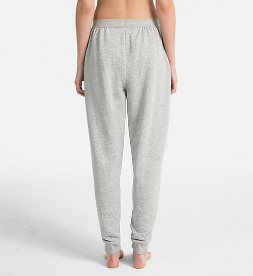 CALVIN KLEIN Joggers - Monogram - GREY HEATHER - CALVIN KLEIN NEW FOR WOMEN - detail image 1