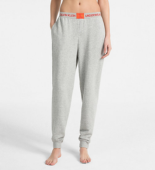 CALVIN KLEIN Joggers - Monogram - GREY HEATHER - CALVIN KLEIN NEW FOR WOMEN - main image