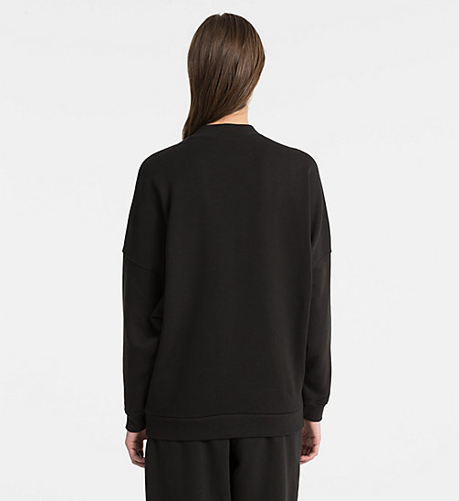 CALVINKLEIN Sweatshirt - Monogram - BLACK - CALVIN KLEIN NEW FOR WOMEN - detail image 1