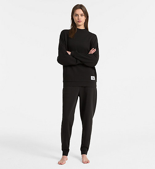 CALVIN KLEIN Sweatshirt - Monogram - BLACK - CALVIN KLEIN SWIM SHOP WOMEN - detail image 1