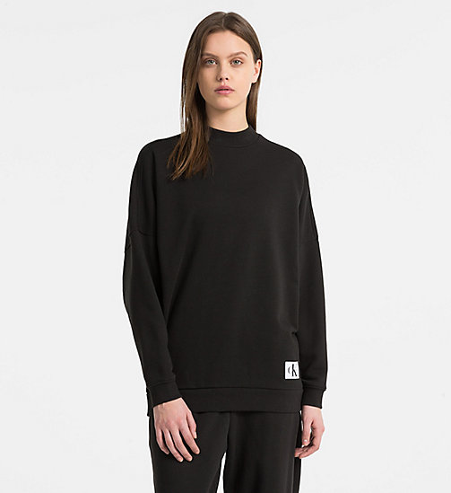 CALVIN KLEIN Sweatshirt - Monogram - BLACK - CALVIN KLEIN SWIM SHOP WOMEN - main image