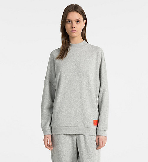 CALVINKLEIN Sweatshirt - Monogram - GREY HEATHER - CALVIN KLEIN NEW FOR WOMEN - main image