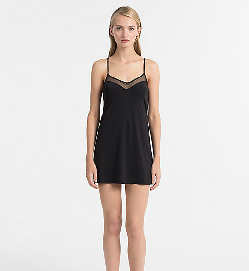 CALVINKLEIN Chemise - Youthful Lingerie - BLACK - CALVIN KLEIN NIGHTDRESSES - main image