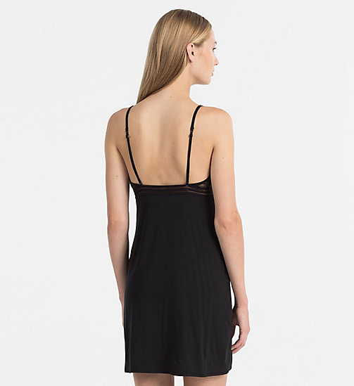 CALVINKLEIN Chemise - Perfectly Fit - BLACK - CALVIN KLEIN NIGHTDRESSES - detail image 1
