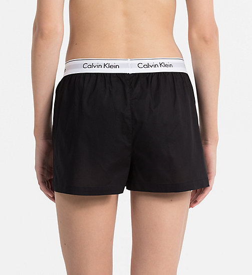 CALVINKLEIN PJ Shorts - Modern Cotton - BLACK - CALVIN KLEIN PYJAMA BOTTOMS - detail image 1