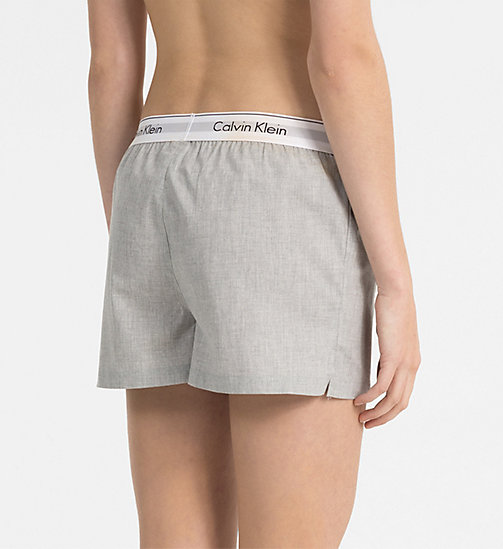 CALVINKLEIN PJ Shorts - Modern Cotton - GREY HEATHER - CALVIN KLEIN PYJAMA BOTTOMS - detail image 1