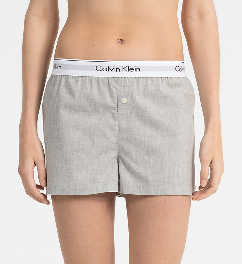 CALVINKLEIN PJ Shorts - Modern Cotton - WHITE - CALVIN KLEIN WOMEN - main image