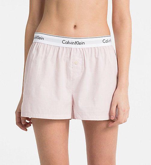 CALVINKLEIN PJ Shorts - NYMPH'S HEATHER - CALVIN KLEIN PYJAMA BOTTOMS - main image