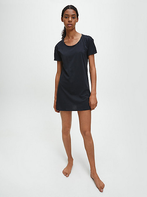 CALVIN KLEIN Nightshirt - Youthful Lingerie - BLACK - CALVIN KLEIN NIGHTDRESSES - main image