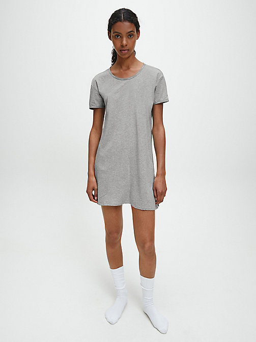 CALVIN KLEIN Nightshirt - Youthful Lingerie - GREY HEATHER - CALVIN KLEIN NIGHTDRESSES - main image