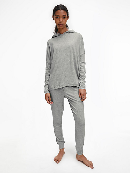 CALVIN KLEIN Hoodie - CK Form - GREY HEATHER - CALVIN KLEIN LOUNGE TOPS - detail image 1