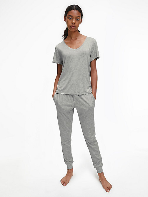 CALVIN KLEIN Joggingbroek - CK Form - GREY HEATHER - CALVIN KLEIN BAS DÉTENTE - image détaillée 1