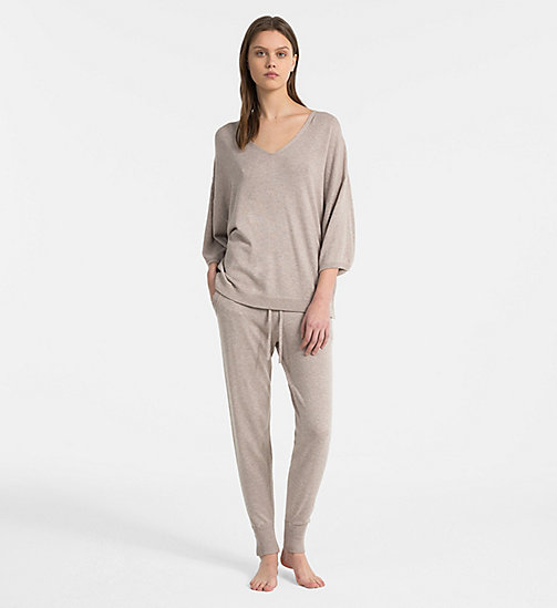 CALVIN KLEIN Strick-Jogginghose - NATURAL HEATHER - CALVIN KLEIN LOUNGE-HOSEN - main image 1