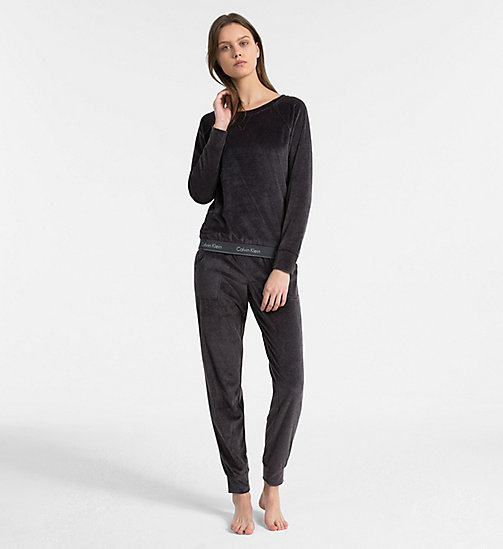 CALVIN KLEIN Sweatshirt - Modern Cotton - WASHED BLACK - CALVIN KLEIN SWIM SHOP WOMEN - detail image 1