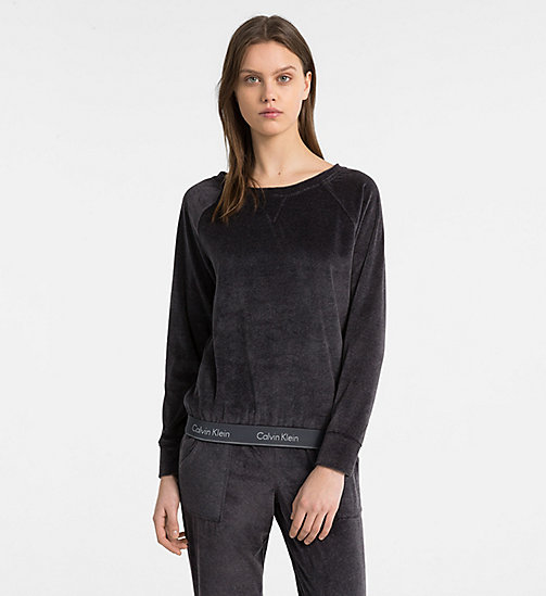 CALVIN KLEIN Sweatshirt - Modern Cotton - WASHED BLACK - CALVIN KLEIN SWIM SHOP WOMEN - main image