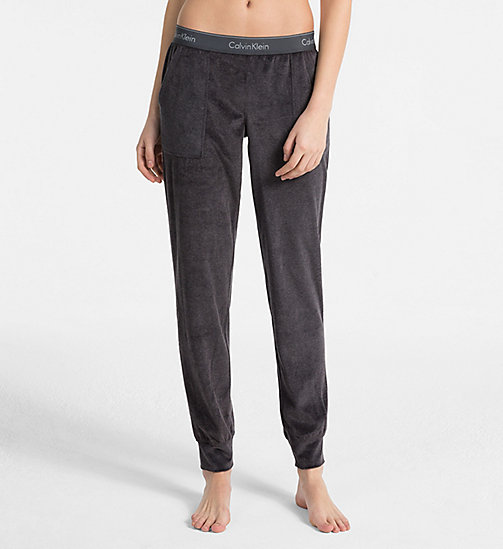 CALVIN KLEIN Joggers - Modern Cotton - WASHED BLACK - CALVIN KLEIN LOUNGE PANTS - main image