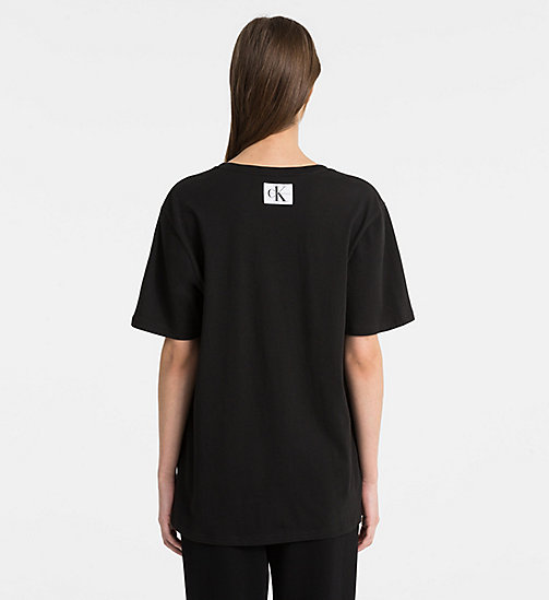 CALVINKLEIN Logo T-Shirt - Monogram - BLACK - CALVIN KLEIN MONOGRAM FOR HER - detail image 1