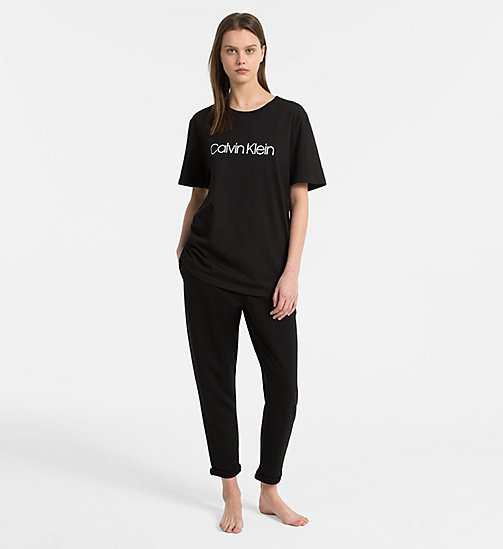 CALVIN KLEIN Logo-T-Shirt - Monogram - BLACK - CALVIN KLEIN MONOGRAM FOR HER - main image 1
