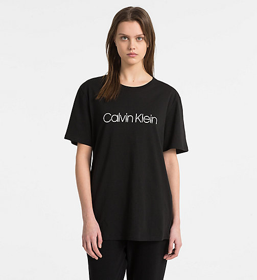 CALVINKLEIN Logo T-Shirt - Monogram - BLACK - CALVIN KLEIN NEW FOR WOMEN - main image
