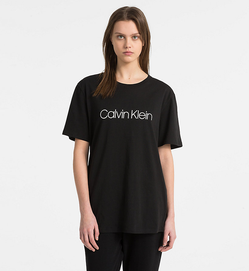 CALVIN KLEIN Logo T-Shirt - Monogram - GREY HEATHER - CALVIN KLEIN WOMEN - main image