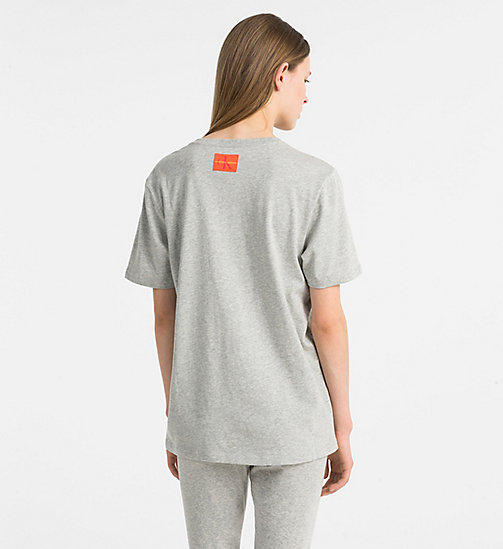 CALVINKLEIN Logo T-Shirt - Monogram - GREY HEATHER - CALVIN KLEIN NEW FOR WOMEN - detail image 1