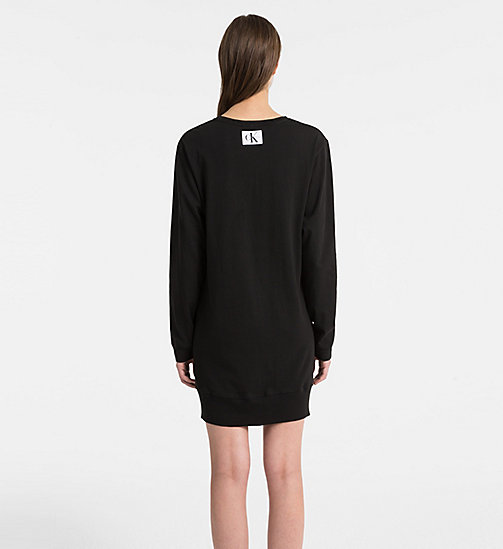 CALVINKLEIN Logo Nightshirt - Monogram - BLACK - CALVIN KLEIN NEW FOR WOMEN - detail image 1