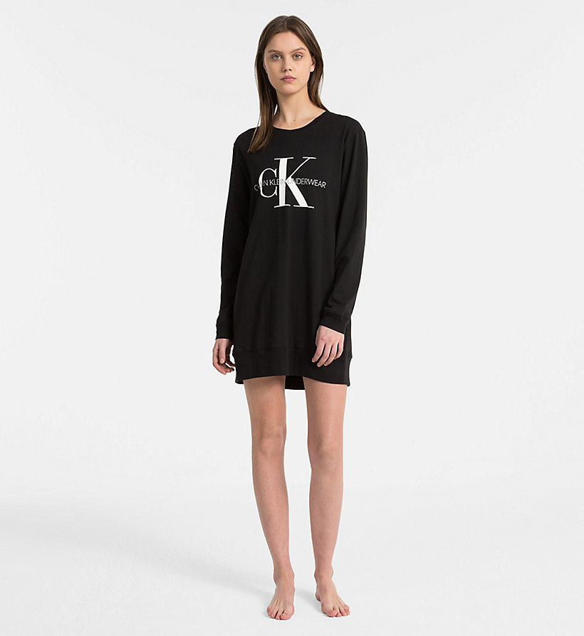 CALVIN KLEIN Logo Nightshirt - Monogram - GREY HEATHER - CALVIN KLEIN UNDERWEAR - detail image 3