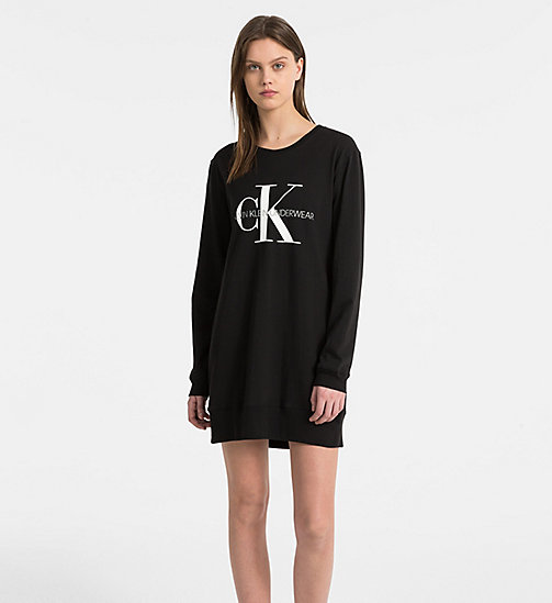CALVINKLEIN Logo Nightshirt - Monogram - BLACK - CALVIN KLEIN MONOGRAM FOR HER - main image