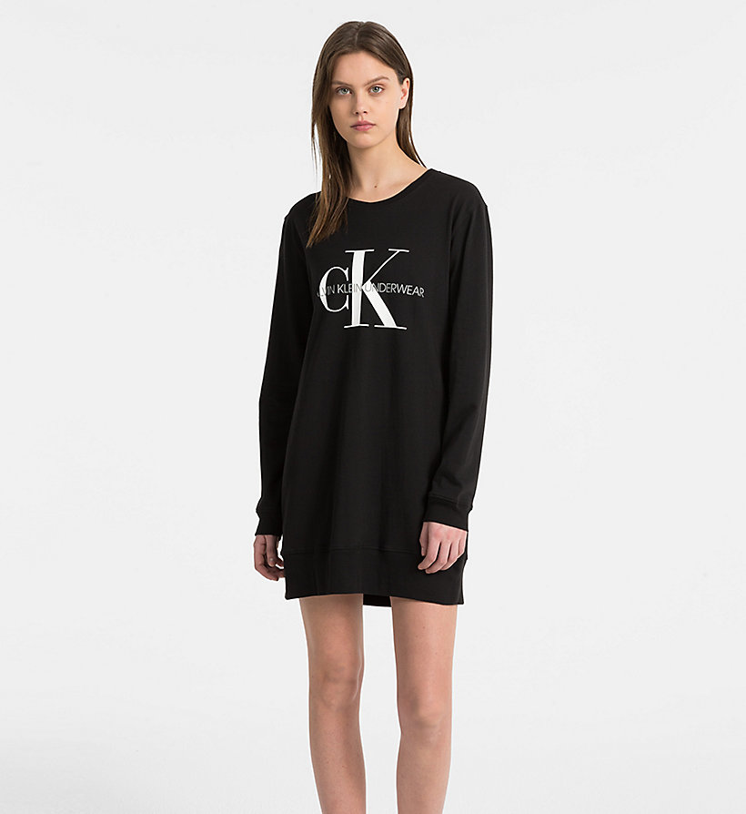 CALVIN KLEIN Logo Nightshirt - Monogram - GREY HEATHER - CALVIN KLEIN UNDERWEAR - main image