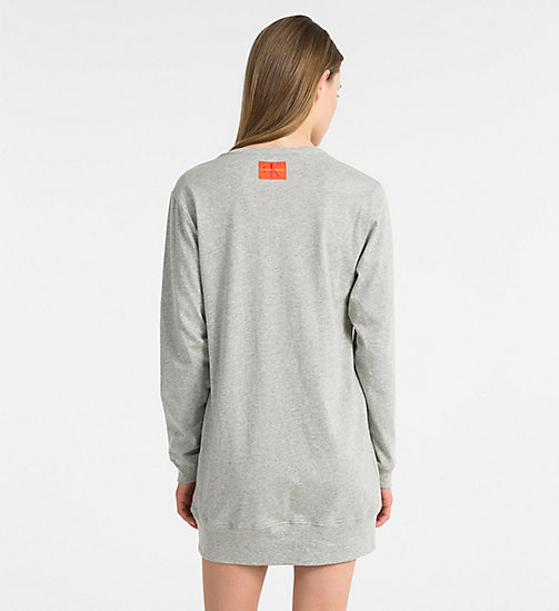 CALVINKLEIN Logo Nightshirt - Monogram - GREY HEATHER - CALVIN KLEIN NEW FOR WOMEN - detail image 1